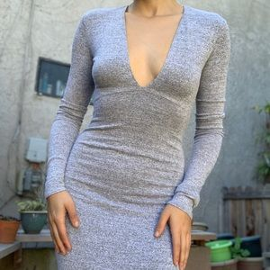Wilfred Free Gray Fitted Super Stretchy Dress